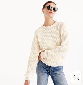 J. Crew sweater, size M, cream color.